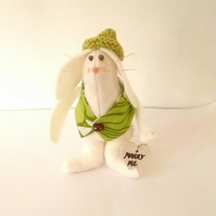 Felt Rabbit, Handmade Rabbit, Minature Rabbit, Valentine Gift