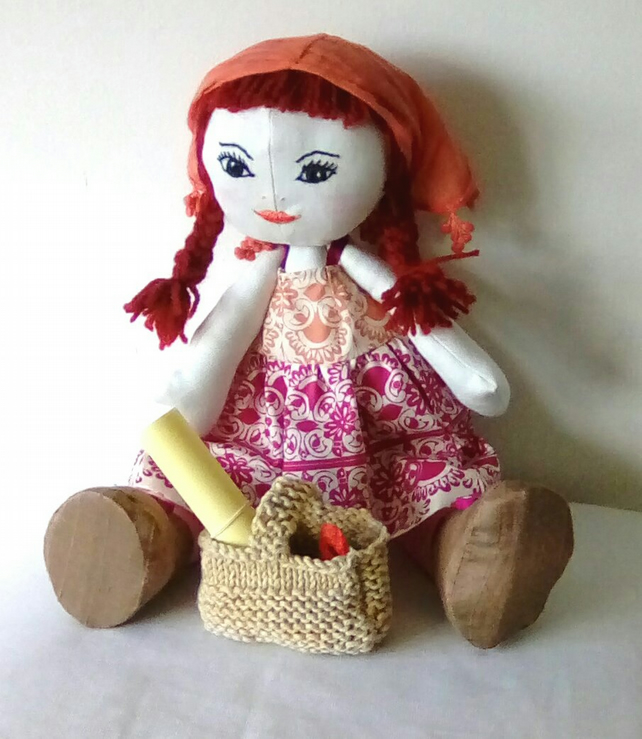 Handmade Doll, Memory Doll, Collectable Doll, Fabric Doll