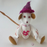 Felt Mouse, Handmade Mouse, Home Decor, Embroidered Mouse