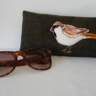 Bird Spectacle Case, Embroidered Spectacle Case, Glasses Case