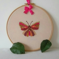 Embroidered Butterfly, Butterfly embroidery
