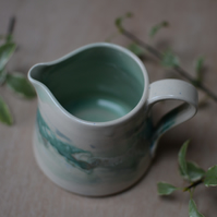 Seascape jug - Green and blue glazes