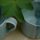 Horizon cup - beautifully glazed in blues and greens