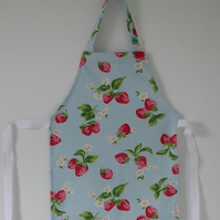 Pretty strawberry apron for a little girl