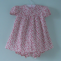 Beautiful liberty baby dress with matching knickers for a  9 month to 1 year old