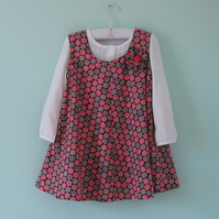 Beautiful liberty lawn pinafore dress to suit a 4-5 year old little girl