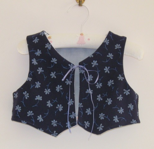 Fully lined jersey cotton waistcoat   to fit a 3 to 4 year old