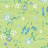 Hardwearing upholstery fabric in attractive flowery design
