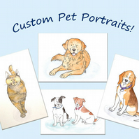 A4 Custom Pet Portrait