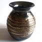 THROWN POT Unique Handmade Display Pot, Stunning Black & Gold - No.16