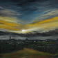 Glasgow University Skyscape Giclee Print Scotland
