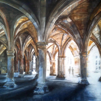 Glasgow University Cloisters Digital Print