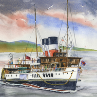 Glasgow Waverley Paddle Steamer Limited Edition Giclee Print