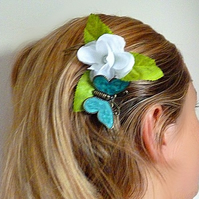 Vintage hair comb, hair accessories, flower, butterfly,