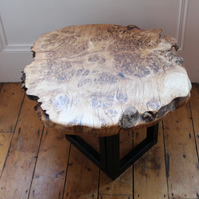 Golden Oak Burr Coffee Table