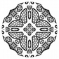 Kaleidoscope to colour In.  This is a digital downloadable product.