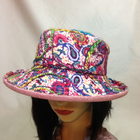 Ladies paisley embellished  summer  cloche hat