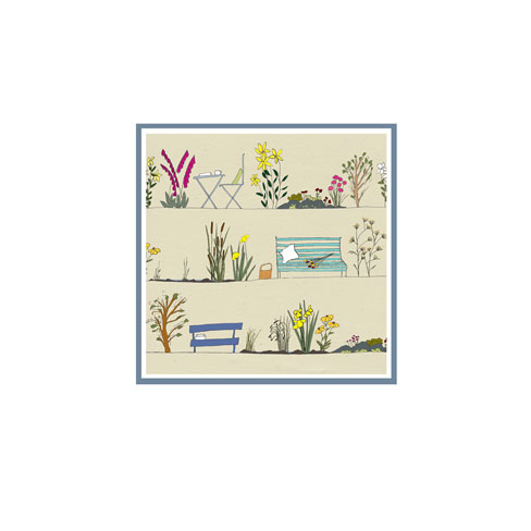 Country Garden - pack of 5 greetings cards or notelets