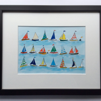 The Regatta -framed print