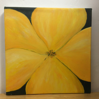 Yellow mullein - original acrylic on canvas