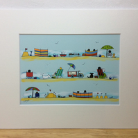 A day at the seaside - print