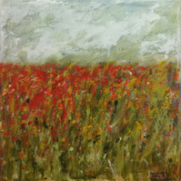 Poppies - original painting acrylic on canvas