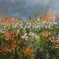 Flower garden - original acrylic on board