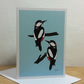 Woodpeckers - pack of 5 Christmas cards