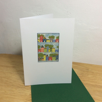 Snowy Streets - pack of 5 bilingual English-Welsh  Christmas cards