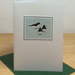 Oystercatchers - bilingual English-Welsh 5 pack Christmas cards
