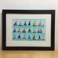 The Regatta - framed print