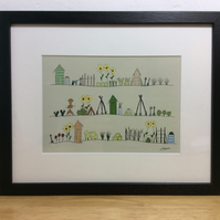 The Allotments - framed print