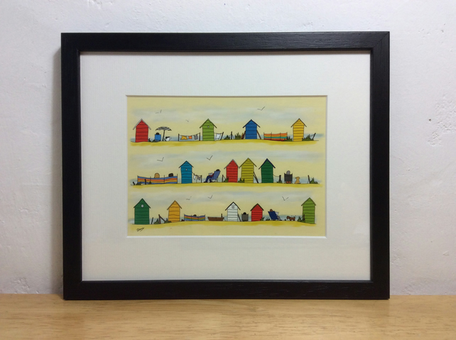 Beside the sea - framed print