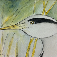 Heron - original painting
