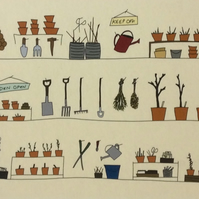 The Potting Shed - print from illustration