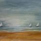 Sailing - painting of boats at sea