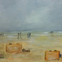 Windbreaks - painting of a day on the sunny coast