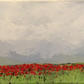 Poppy field - acrylic painting on canvas. Flowers.