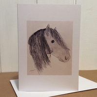 Horse  - greeting card. Blank inside.