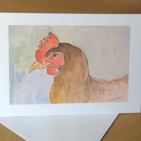 Chicken - greetings card. Blank inside.