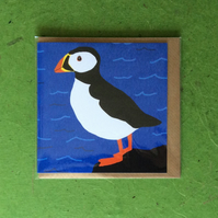 Greetings card - blank for own message - Puffin