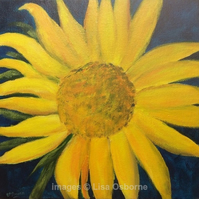Sunflower.  Original acrylic on canvas. Flower.