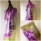 Beautiful scarf, made from silk, hand painted