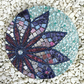 Charon Violet Flower Mosaic Panel