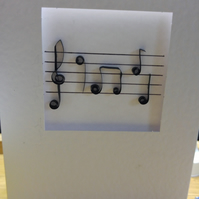 Quilling music notes card
