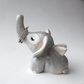 Ceramic Elephant with wings. Ring holder, good luck charm gift.