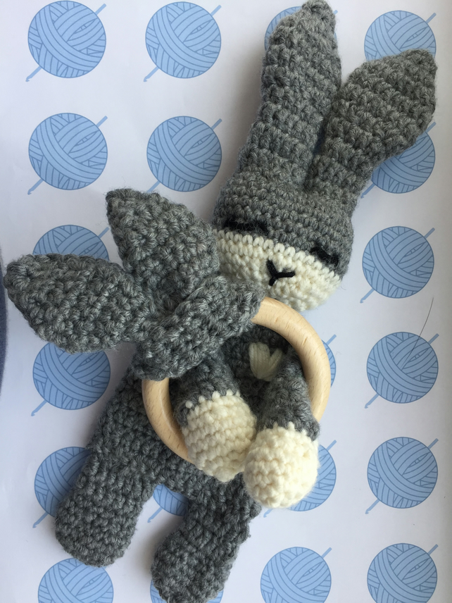 Gift set- Blossom the bunny snuggly and bunny ears teether