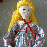 """Posy"" The victorian inspired Rustic Keepsake Rag doll."