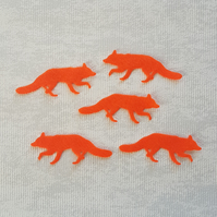 Felt Foxes, felt fox die cuts, red foxes, woodland animals, craft embellishments