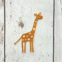 Felt Giraffe, die cut giraffes, felt die cuts, card making, diy crafts, felt